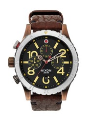 Nixon 48 20 Chronograph Watch Brown Copper