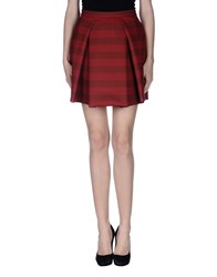 So Nice Skirts Knee Length Skirts Women Brick Red
