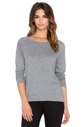 Bobi Light Weight Jersey Crewneck Long Sleeve Tee Gray