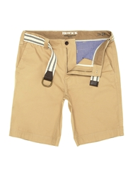 Howick Flat Front Shorts Biscuit