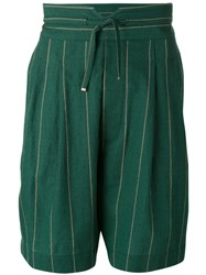 Vivienne Westwood Man Striped Bermuda Shorts Green