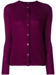 Aspesi Plain Cardigan Pink And Purple