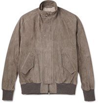 Eidos Suede Harrington Jacket Brown