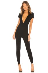 By The Way Leona Deep V Catsuit Black