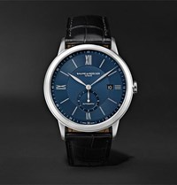 Baume And Mercier Classima Automatic 42Mm Stainless Steel Alligator Watch Black