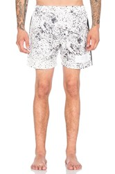 Stampd Speckle Print Trunk White
