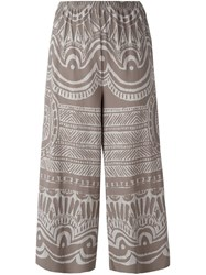Issey Miyake Pleats Please By 'Pot Painted Pottery' Trousers Nude And Neutrals