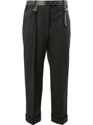 Vera Wang Cropped Tailored Trousers Black