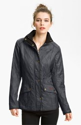 Women's Barbour 'Cavalry' Quilted Jacket Navy