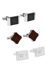 Men's Cathy's Concepts Personalized Cuff Links Onyx W