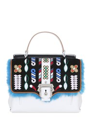 Paula Cademartori Petite Faye Leather Bag W Embroidery