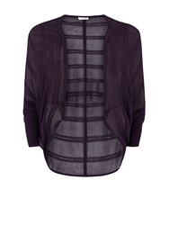 Windsmoor Blackberry Cocoon Cardigan Dark Purple
