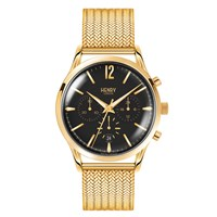 Henry London Men's 41Mm Westminster Black Dial Chronograph Stainless Steel Watch Black Gold