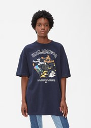 Vetements 'S Cartoon T Shirt In Navy Size Small 100 Cotton