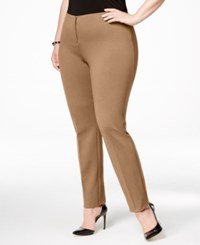Alfani Plus Size Comfort Waist Skinny Pants Only At Macy's Modern Camel