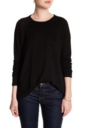 Sweet Romeo Long Raglan Sleeve Pullover Black