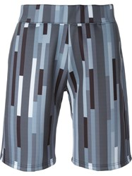 Christopher Kane Geometric Print Sweat Shorts Grey