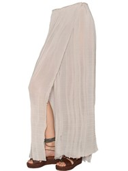 Trussardi Techno Georgette Pleated Maxi Skirt