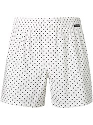 Dolce And Gabbana Polka Dot Swim Shorts White