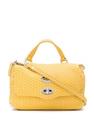Zanellato Textured Postman Lock Bag Yellow