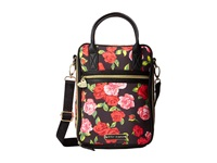Betsey Johnson Fee Fi Faux Fun Lunch Tote Black Floral Satchel Handbags Multi