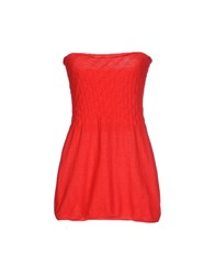 Cristina Gavioli Topwear Tube Tops Women Red