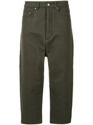 Rick Owens Collapse Cropped Jeans Grey