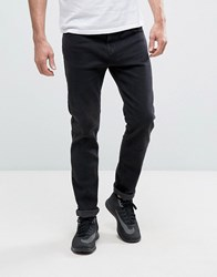 Bershka Skinny Jeans In Black Wash
