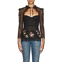 Brock Collection Oliera Embellished Floral Lace Top 001 Black 001 Black