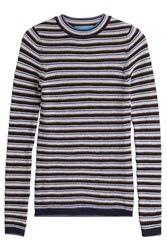Mih Jeans Wool Moon Stone Striped Sweater Stripes
