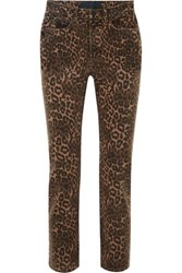 Alexander Wang T By Leopard Print Mid Rise Skinny Jeans Leopard Print