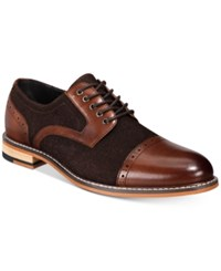 Bar Iii Frankie Perforated Oxfords Created For Macy's Shoes Brown