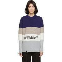 Off White Blue Ow Sweater
