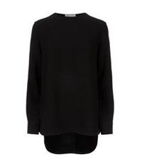 Alexander Wang Cross Back Tunic Top Black