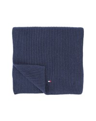 Tommy Hilfiger Blue Cotton Cashmere Scarf