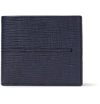 Tod's Cross Grain Leather Billfold Wallet Navy