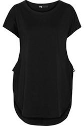 Y 3 Cotton Jersey Top Black