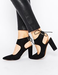 Truffle Collection Mona Tie Heeled Shoes Black