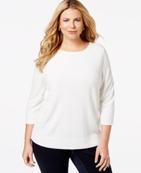Karen Scott Plus Size Solid Crew Neck Sweater Only At Macy's