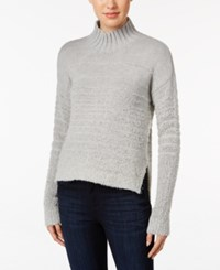 Calvin Klein Jeans Striped Boucle Sweater Light Grey