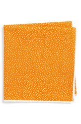 Southern Tide Sagamore Spots Cotton And Silk Pocket Square Peach