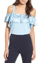 Lost Ink Ruffle Camisole Light Blue