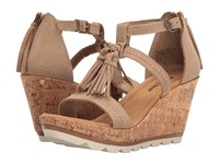 Minnetonka Lincoln Taupe Suede Women's Wedge Shoes