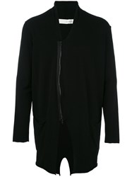 Isabel Benenato Zipped Cardigan Black