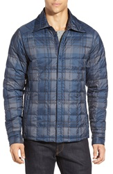 Nau Quilted Down Jacket Prussian Plaid