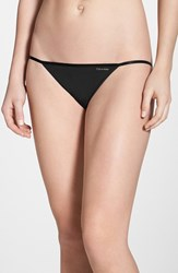 Women's Calvin Klein 'Sleek' String Bikini Black