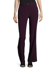 Karl Lagerfeld Straight Leg Dress Pants Bordeaux