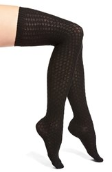 Women's Vince Camuto Textured Over The Knee Socks Black