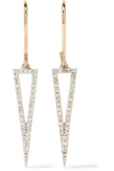 Adina Reyter 14 Karat Gold Sterling Silver And Diamond Earrings One Size