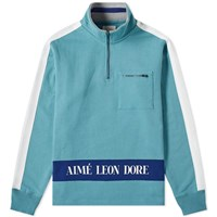 Aime Leon Dore Logo Quarter Zip Sweat Blue